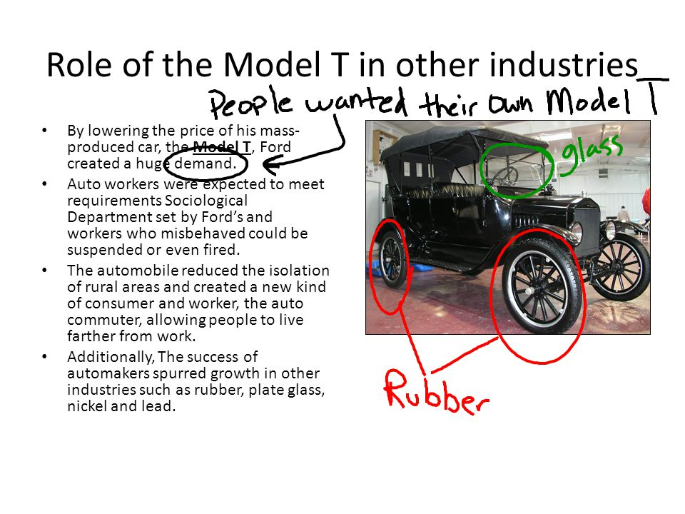 Role of the Model T in other industries