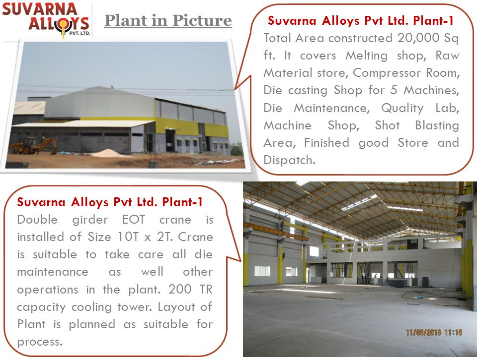 Suvarna Alloys Pvt Ltd. Plant-1