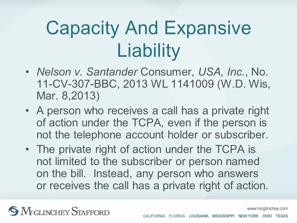 Capacity And Expansive Liability
