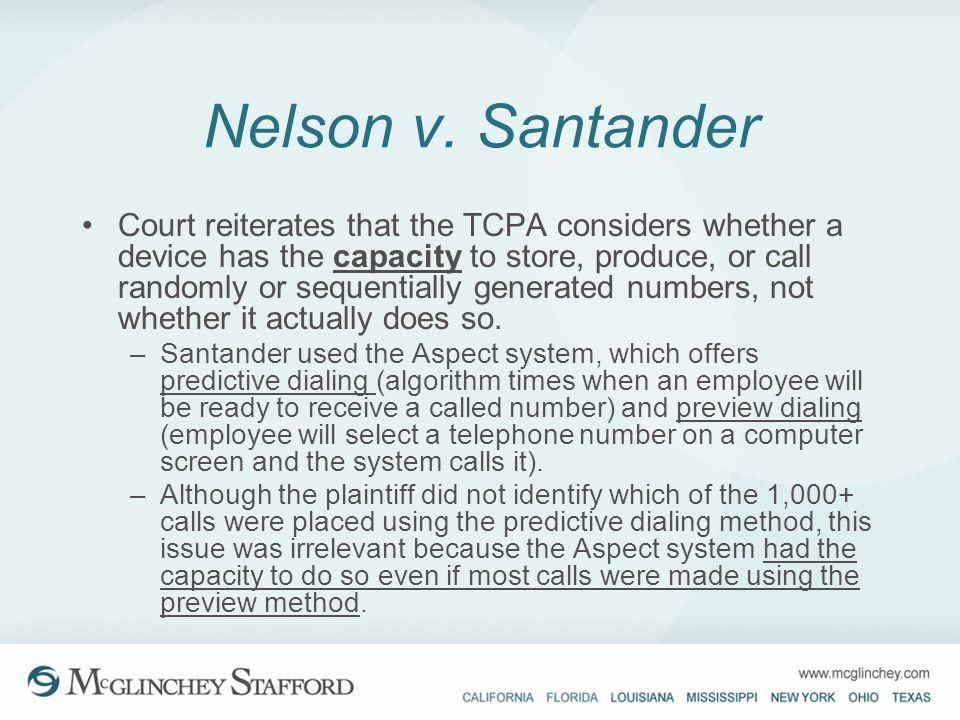 Nelson v. Santander