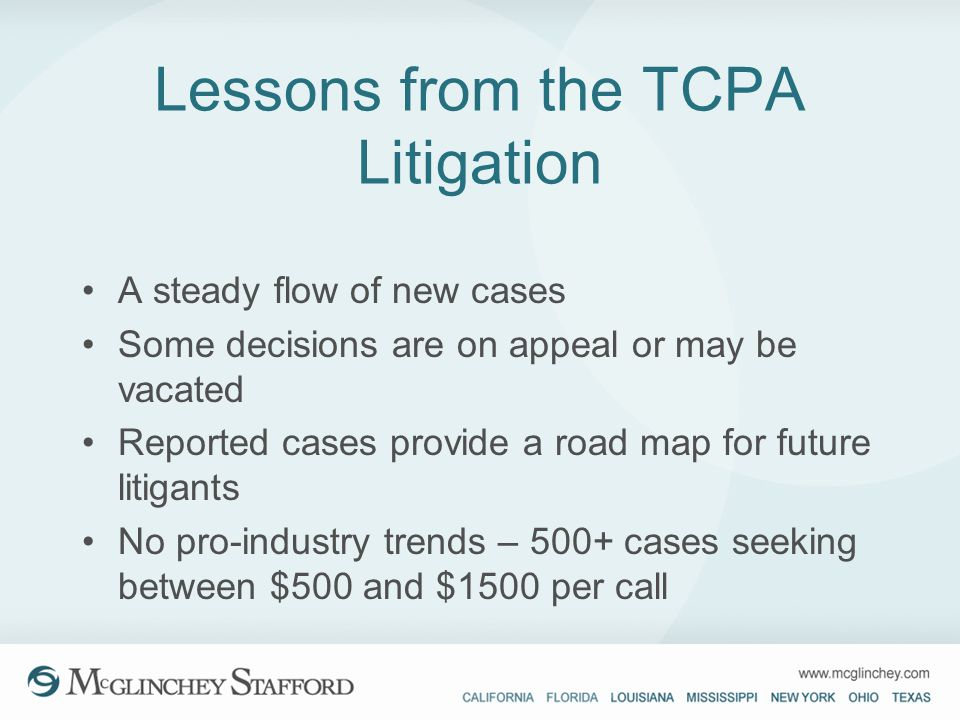 Lessons from the TCPA Litigation