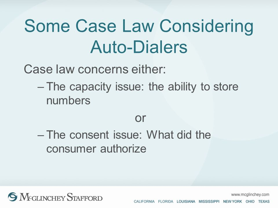 Some Case Law Considering Auto-Dialers