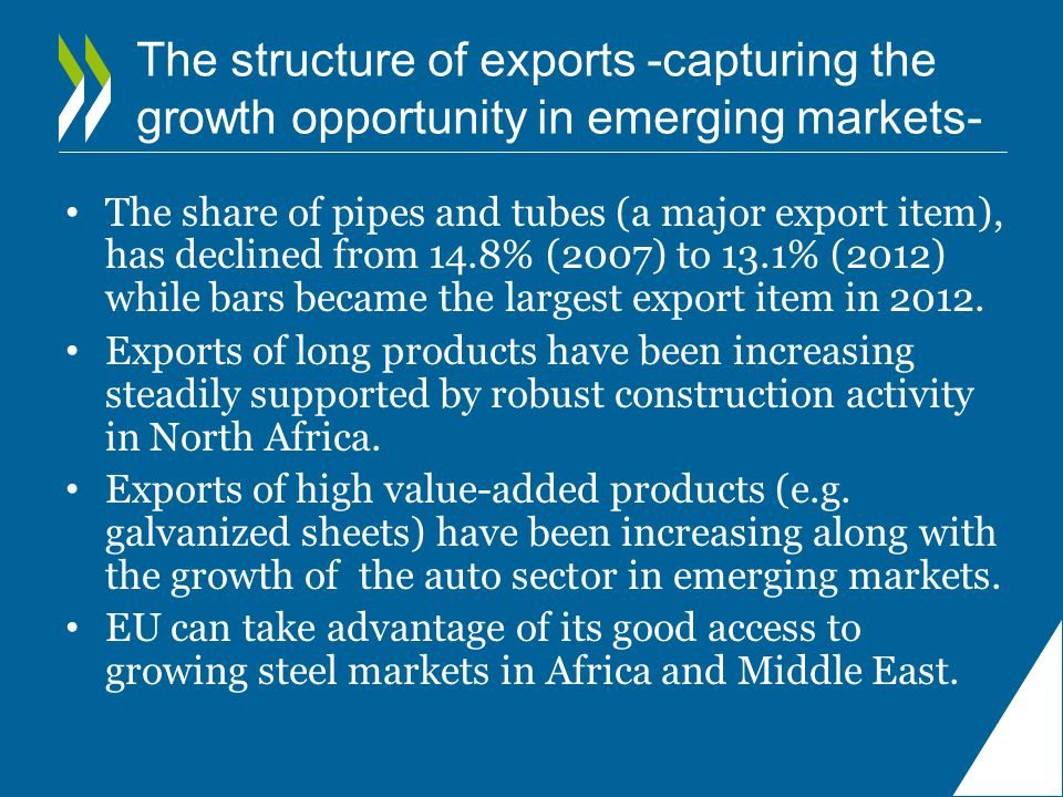 The structure of exports -capturing the growth opportunity in emerging markets-