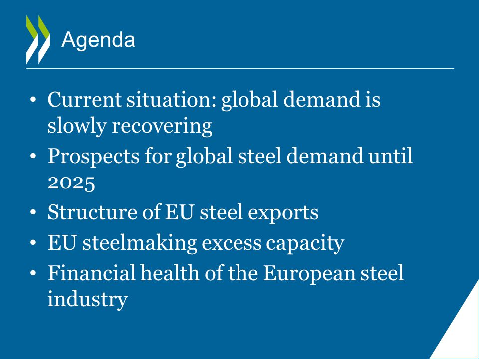 Agenda Current situation: global demand is slowly recovering. Prospects for global steel demand until 2025.