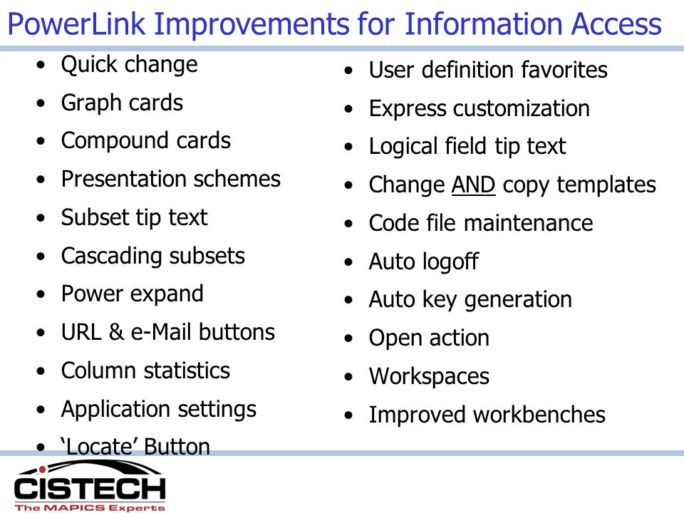 PowerLink Improvements for Information Access