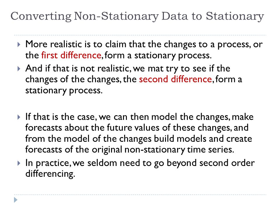 Converting Non-Stationary Data to Stationary