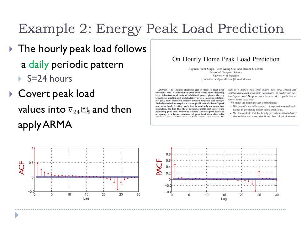 Example 2: Energy Peak Load Prediction