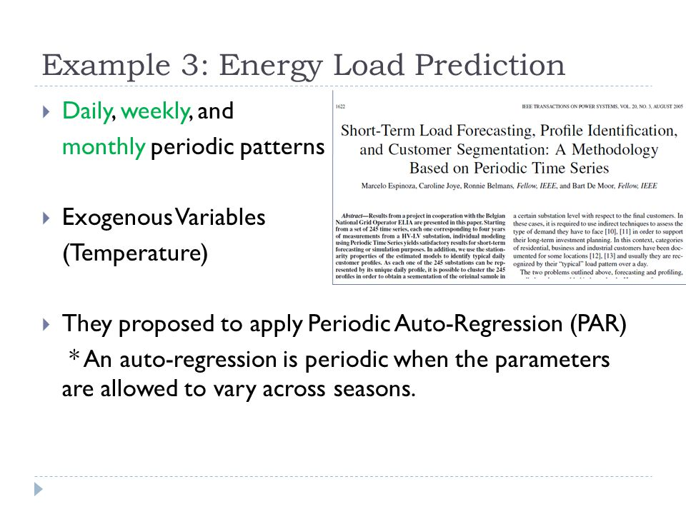 Example 3: Energy Load Prediction