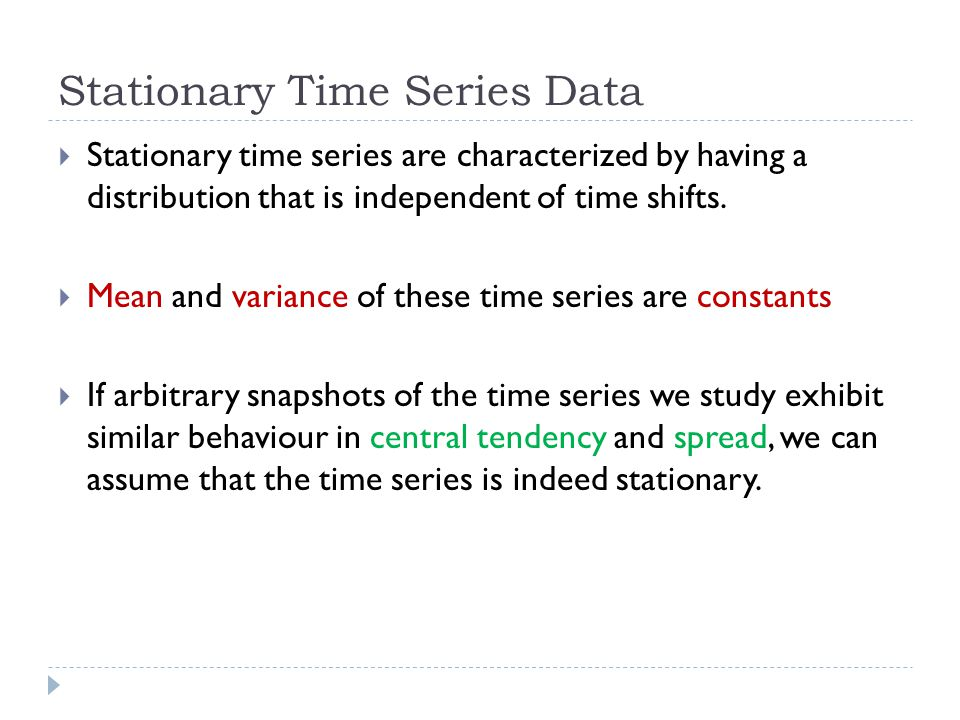 Stationary Time Series Data