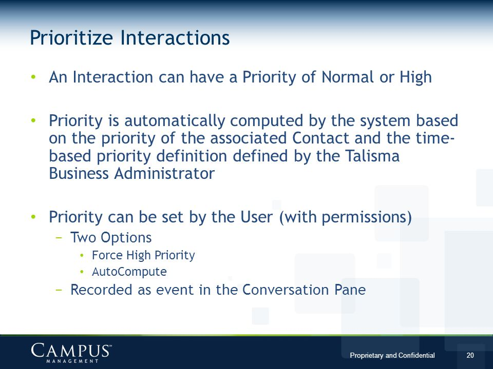Prioritize Interactions