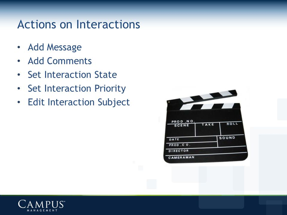 Actions on Interactions