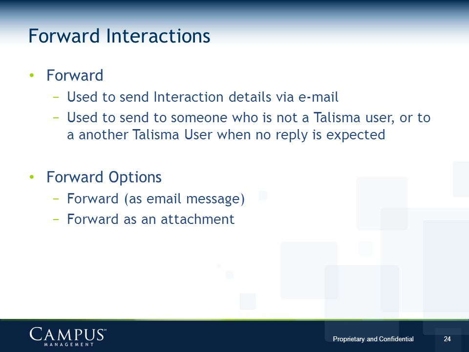 Forward Interactions Forward Forward Options