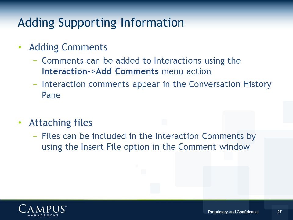 Adding Supporting Information