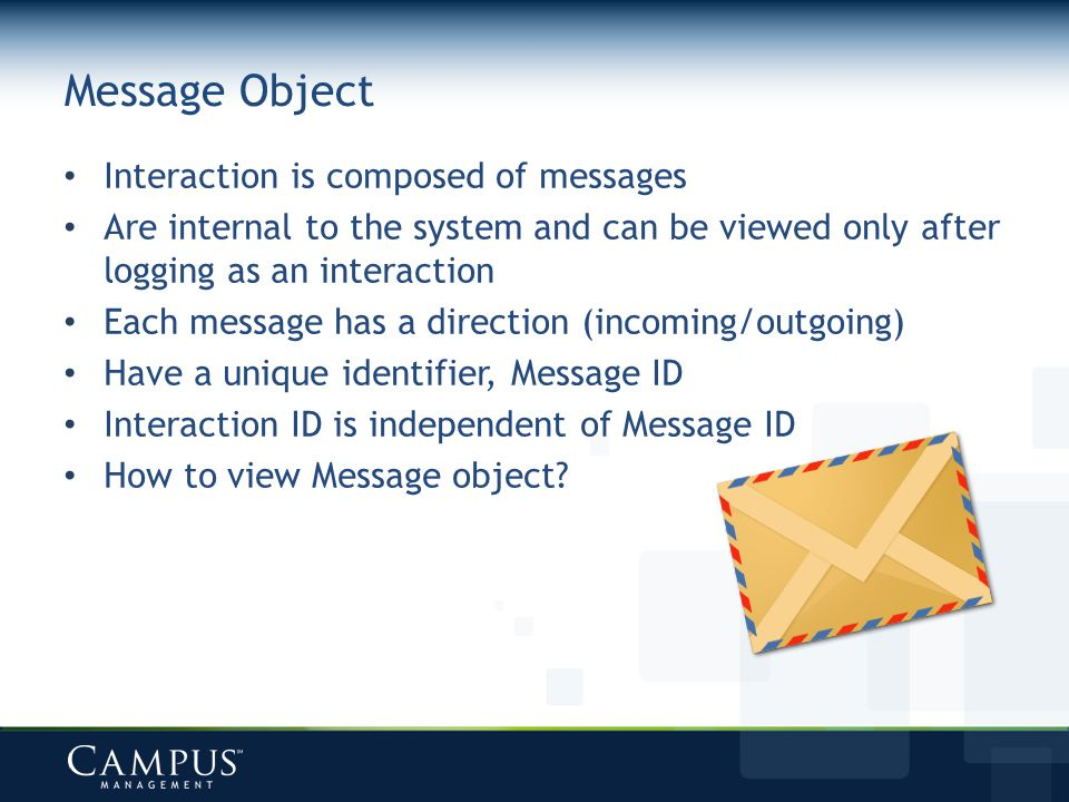 Message Object Interaction is composed of messages