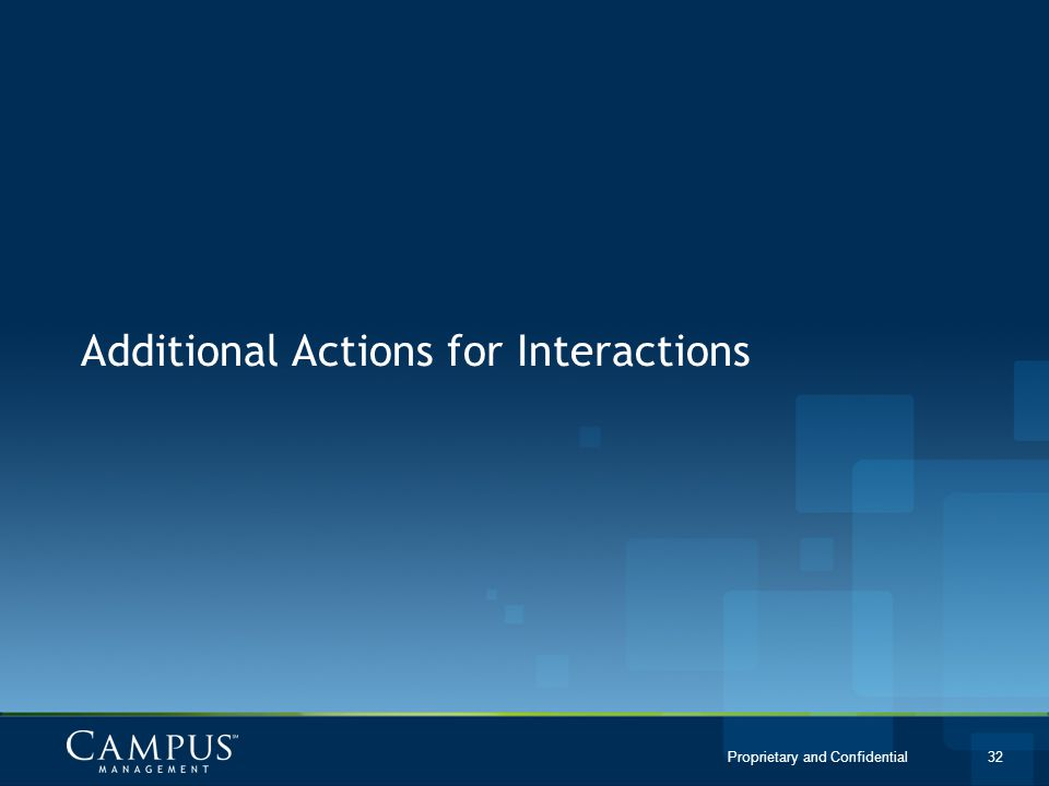 Additional Actions for Interactions