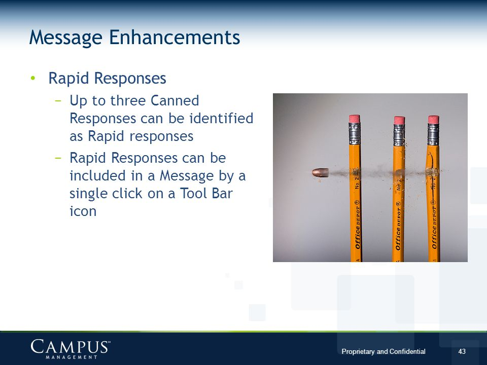 Message Enhancements Rapid Responses