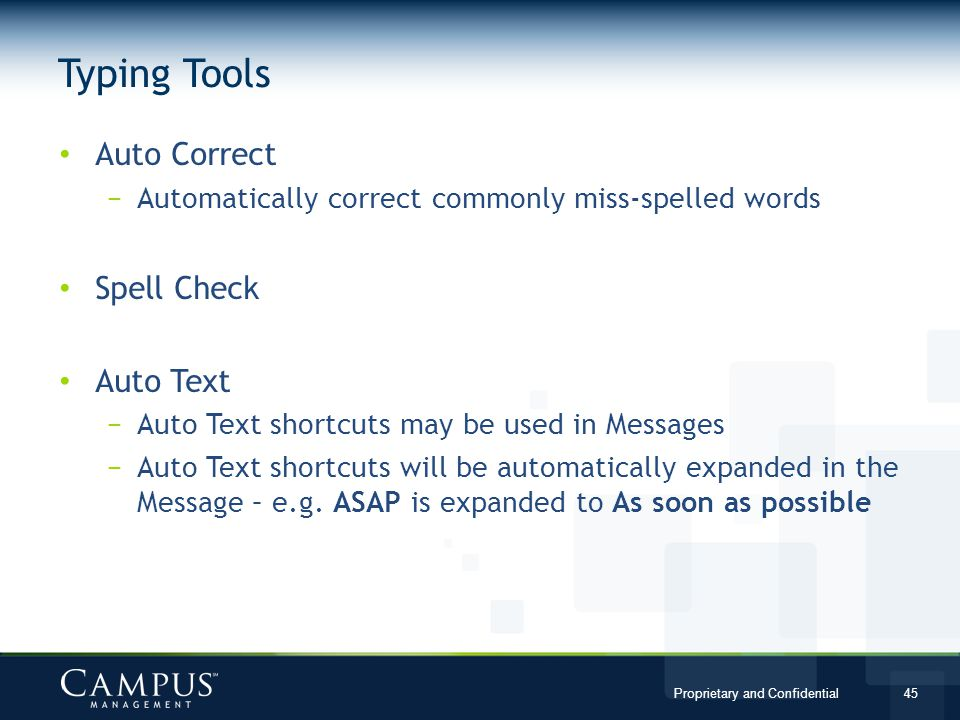 Typing Tools Auto Correct Spell Check Auto Text