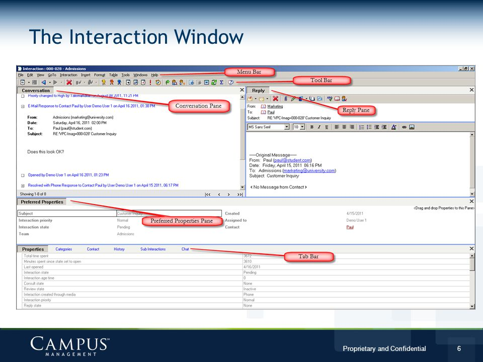 The Interaction Window
