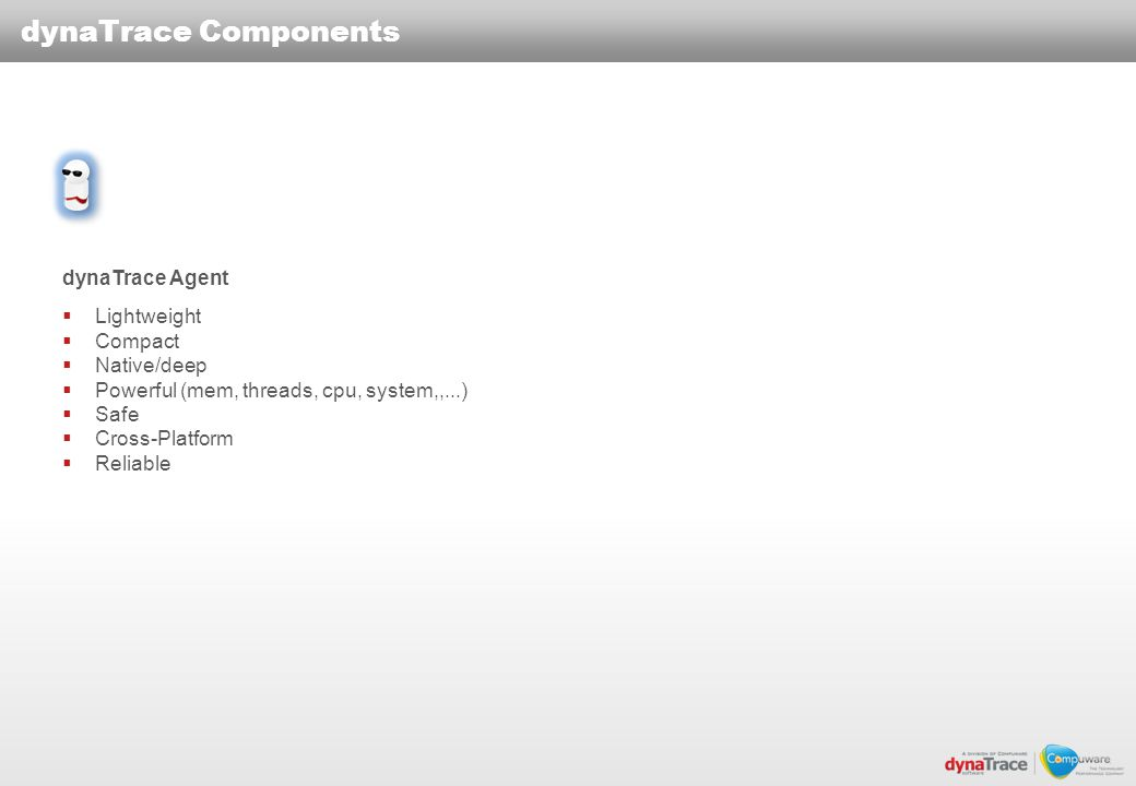 dynaTrace Components dynaTrace Agent Lightweight Compact Native/deep