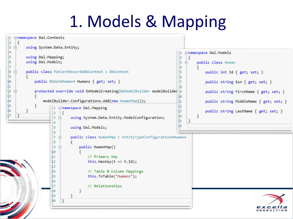 1. Models & Mapping 1. Models & Mapping