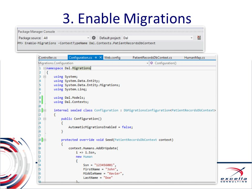 3. Enable Migrations 3. Enable Migrations Enable Migrations