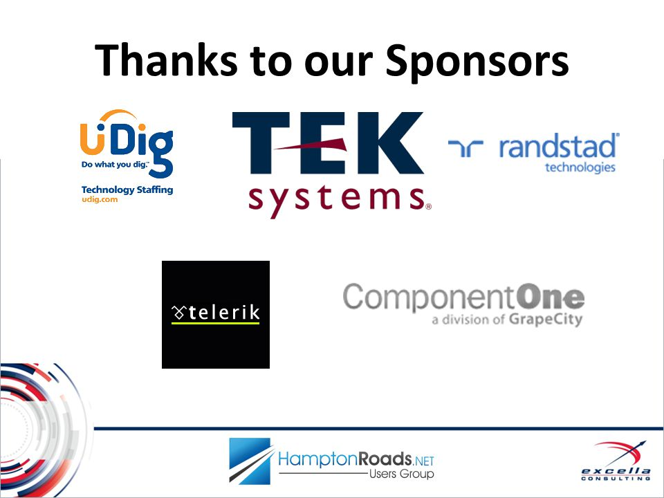 Thanks to our Sponsors Sponsors