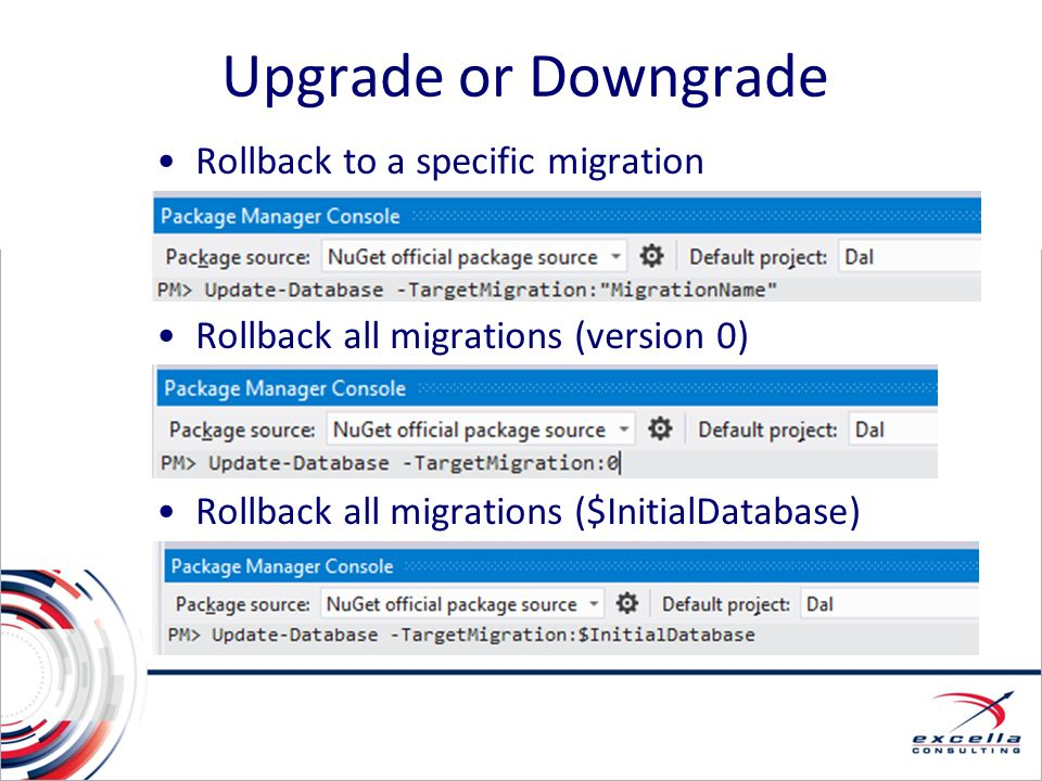 Upgrade or Downgrade Rollback to a specific migration