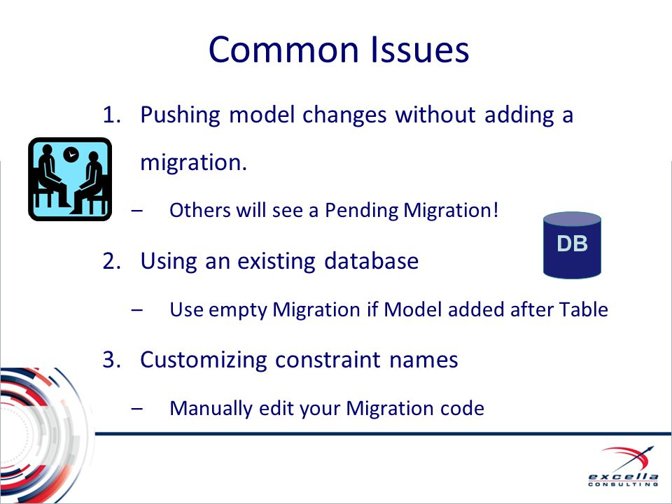 Common Issues Pushing model changes without adding a migration.