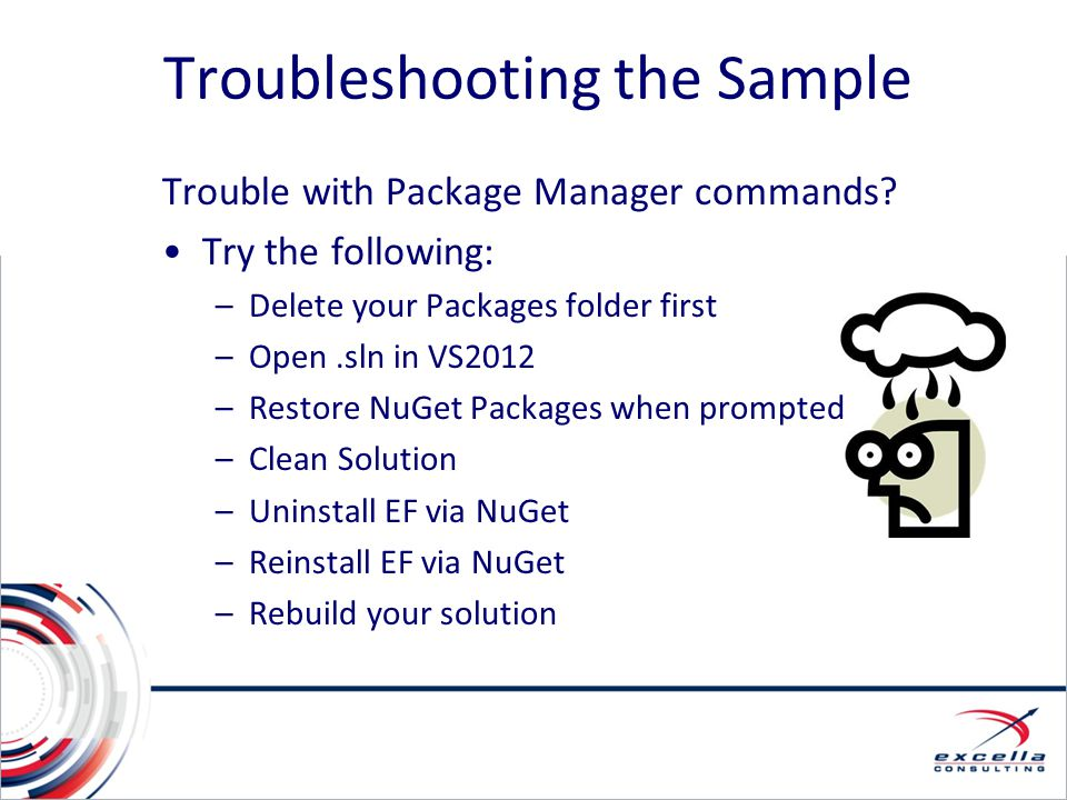 Troubleshooting the Sample