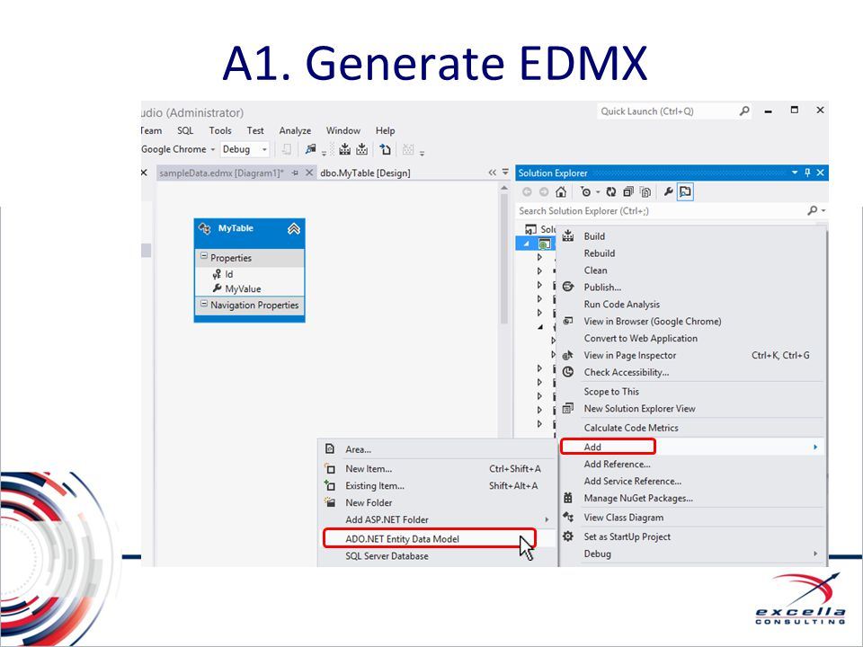 A1. Generate EDMX A1. Options and Alternatives: Database-First (EDMX)