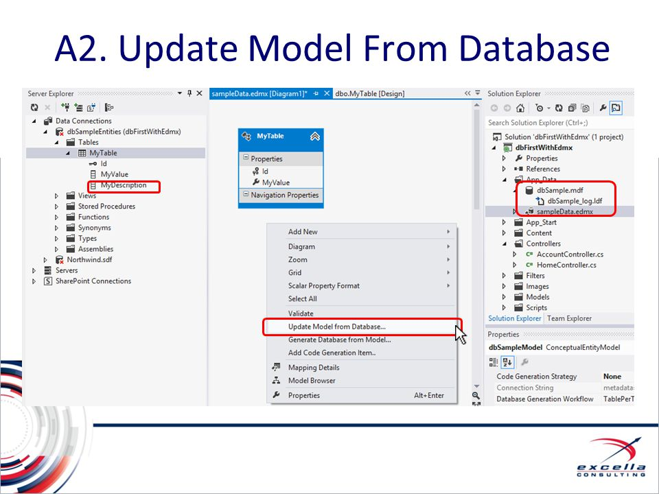 A2. Update Model From Database