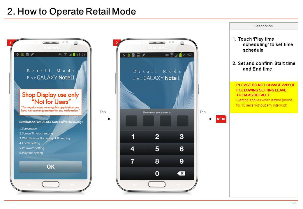 2. How to Operate Retail Mode