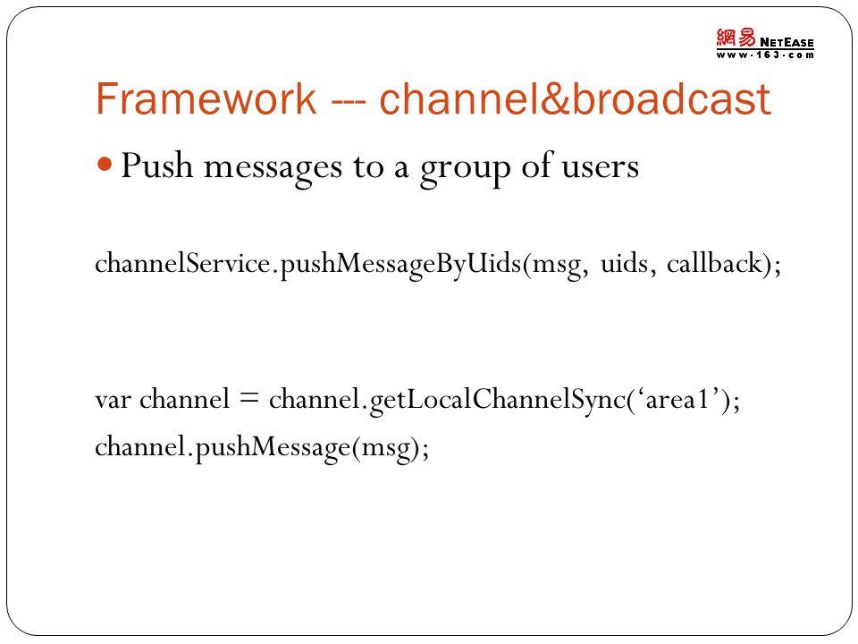 Framework --- channel&broadcast
