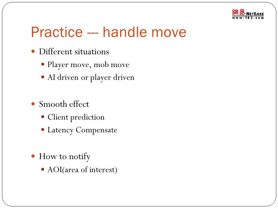 Practice --- handle move
