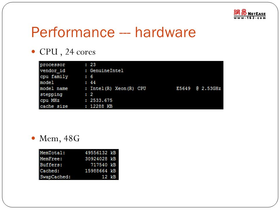 Performance --- hardware