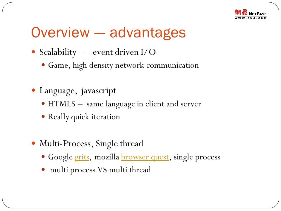Overview --- advantages