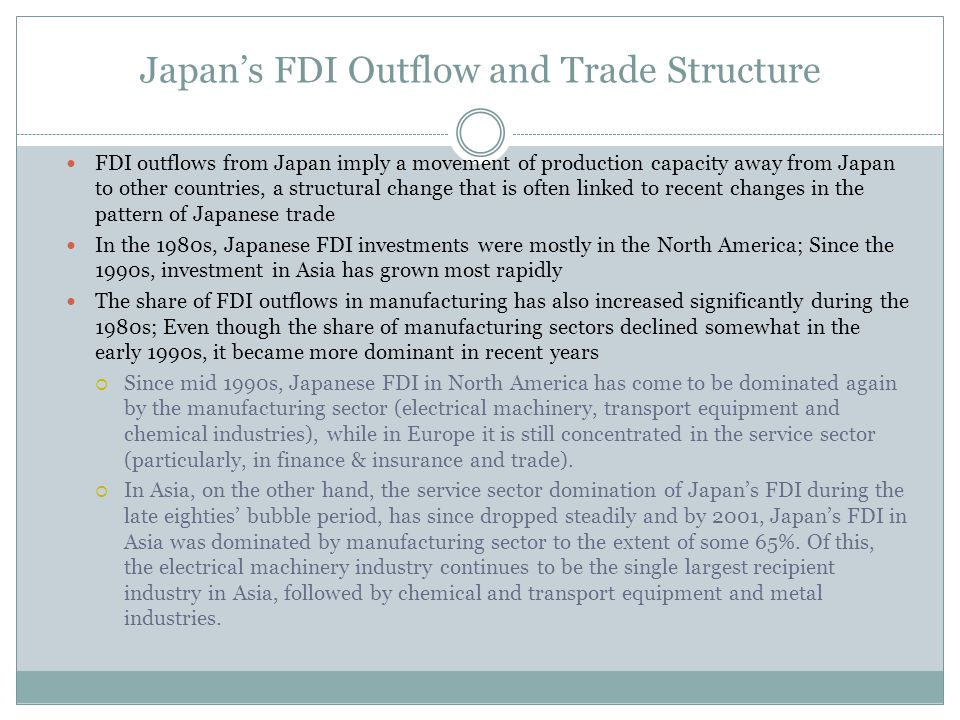 Japan's FDI Outflow and Trade Structure