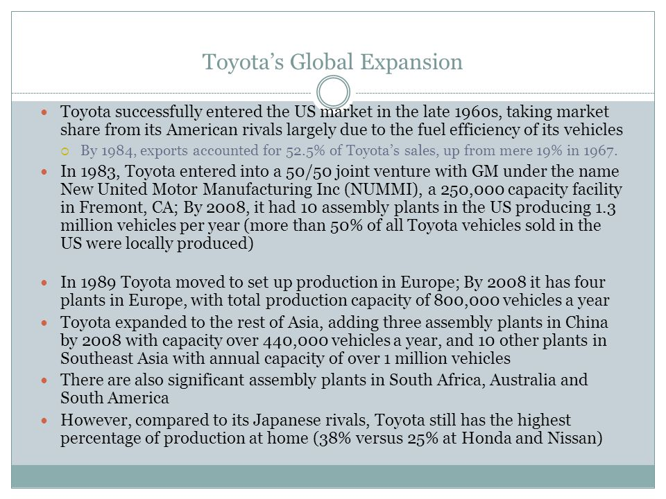Toyota's Global Expansion