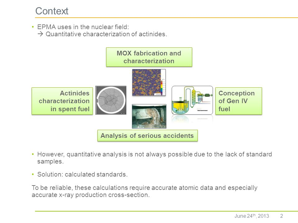 MOX fabrication and characterization Analysis of serious accidents