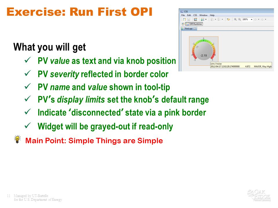 Exercise: Run First OPI