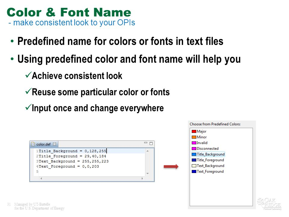 Color & Font Name - make consistent look to your OPIs