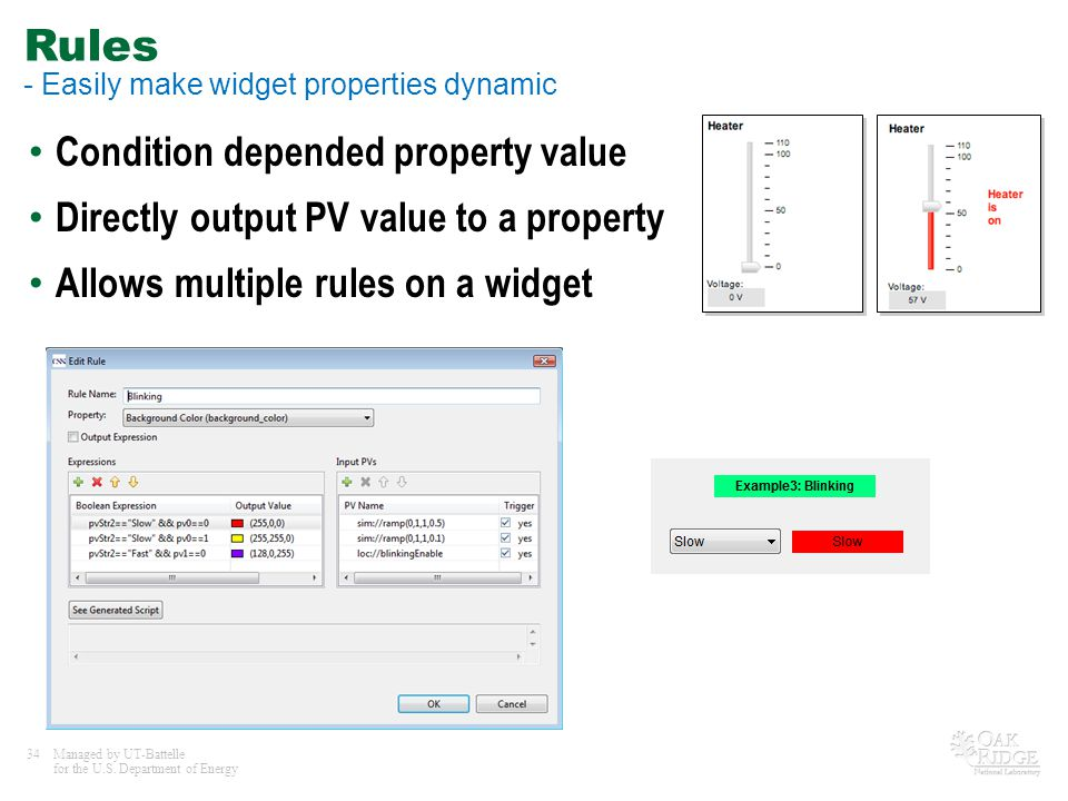 Rules - Easily make widget properties dynamic