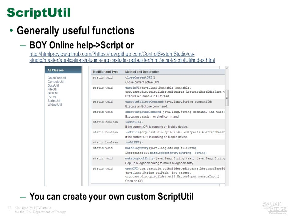 ScriptUtil Generally useful functions