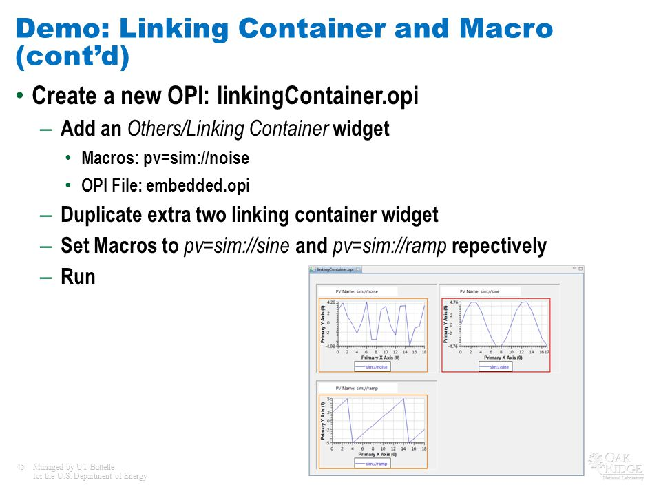Demo: Linking Container and Macro (cont'd)
