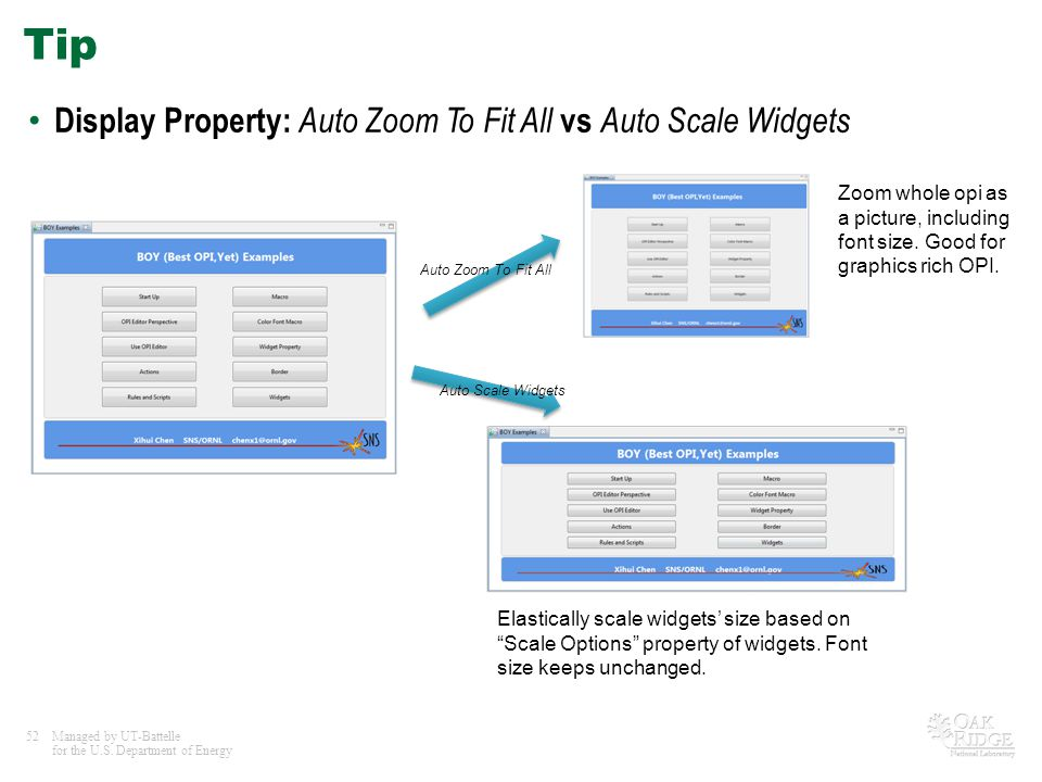 Tip Display Property: Auto Zoom To Fit All vs Auto Scale Widgets