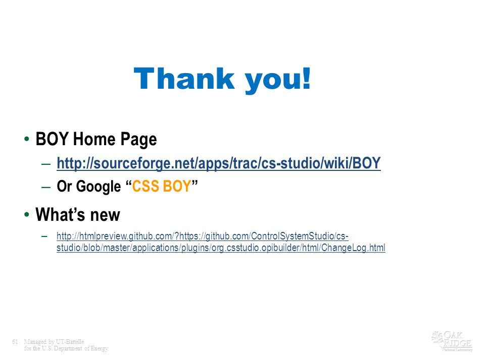 Thank you! BOY Home Page What's new