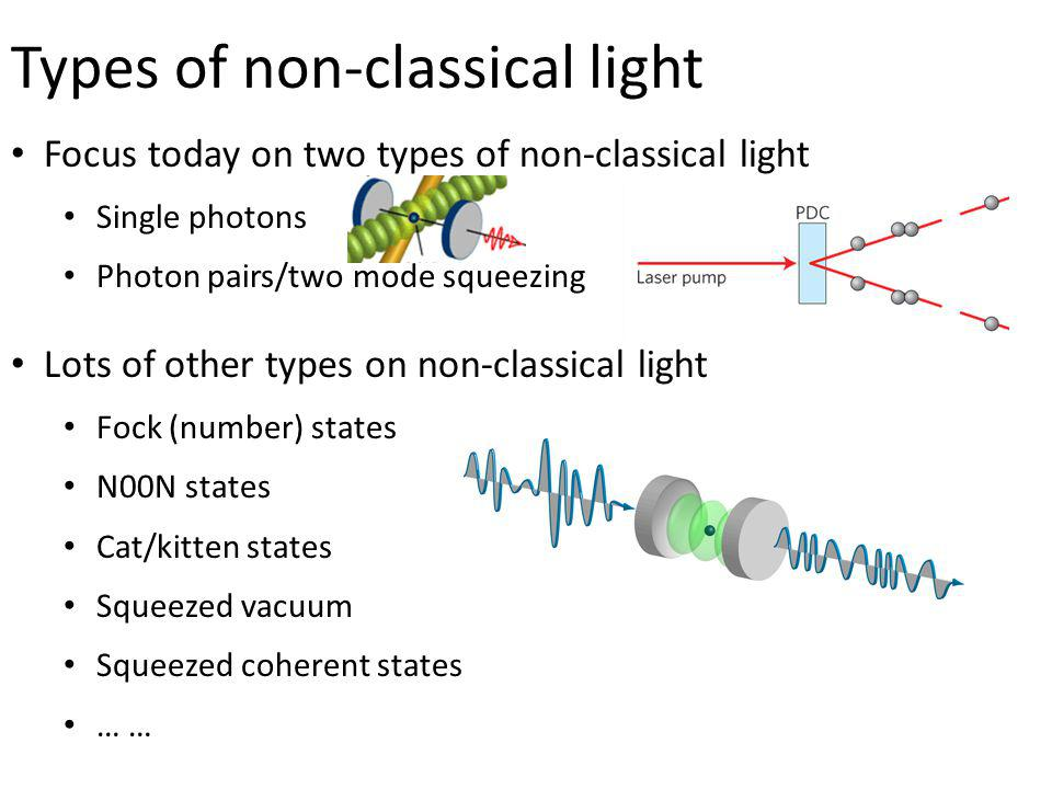 Types of non-classical light