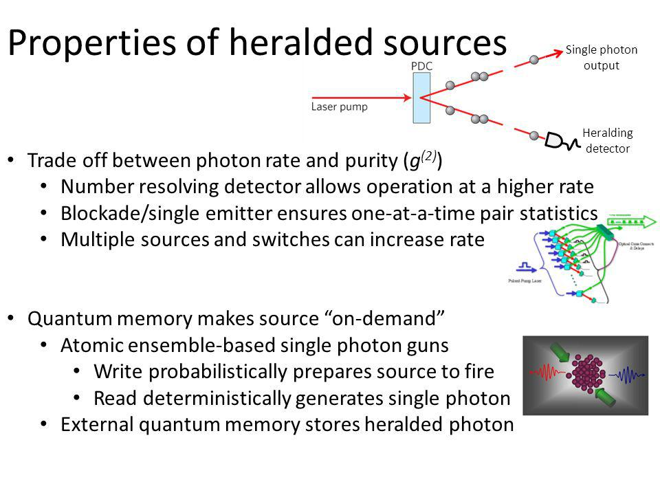 Properties of heralded sources