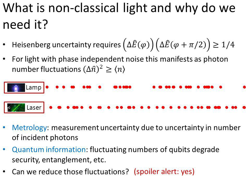 What is non-classical light and why do we need it