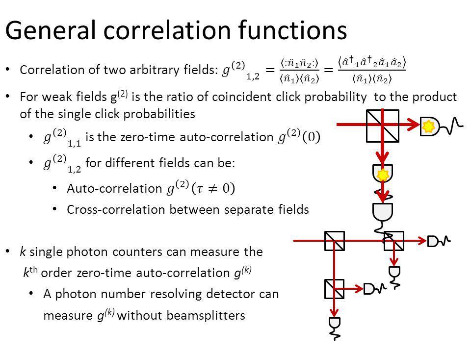 General correlation functions